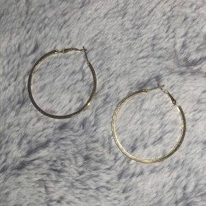 Faux gold hoops